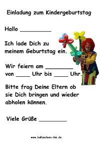 Einladungen Zum Kindergeburtstag. Download Download Download